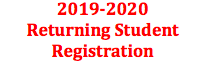 2019-2020 Returning Student Registration