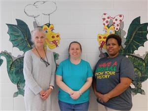 Mrs. Elayne Eure, Mary Bunch, Danielle Smith