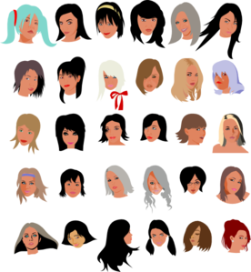 female faces